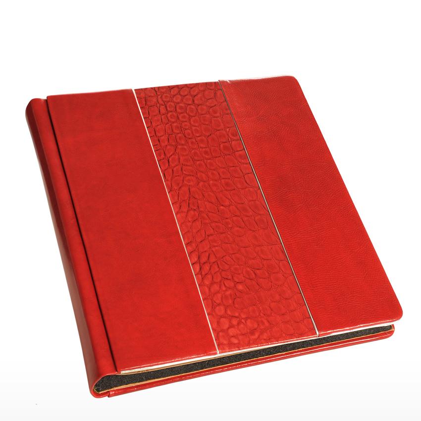 Modello Tiffany con Cuoio Queen rosso e inserto Cocco Fiamma